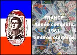 France Année Complète 1961 Oblitérés Cachets à Date - France