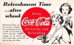 Refreshment Time Â… After School - Drink Coca-Cola - Postcards