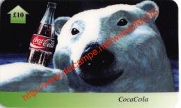 Bear Coca-Cola £10 UK Telecard - Coca-Cola