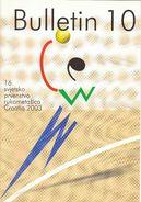 Folder Of Bulletin For 16th Women's World Handball Championship Croatia 2003 - Programma's