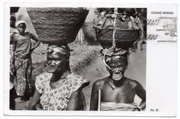 AFRICA - CONGO WOMAN / CIRCULATED FROM KAMPALA-UGANDA 1961 - EAST AFRICA STAMP - Uganda