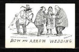 338a * KÜNSTLERKARTE * BOW AND ARROW WEDDING **!! - Indianer