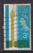 GB 1965 QE2 3d Post Office Tower Used Stamp SG 679. ( D579 ) - 1952-.... (Elizabeth II)