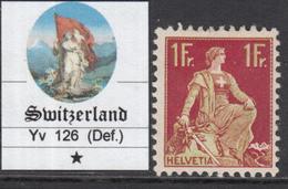 SWITZERLAND - SUISSE - 1 Fr. Yv 126 Neuf Avec Charnière  MH*  Defect  RARE - Svizzera