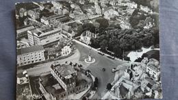 CPSM CHAUMONT 52 VUE AERIENNE SUR LA PLACE DE LA GARE 1952 ED CIM - Chaumont
