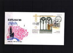 Spain 1986 Michel Block 29 FDC - 1931-Hoy: 2ª República - ... Juan Carlos I