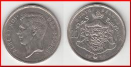 **** BELGIQUE - BELGIUM - BELGIE -20 FRANCS 1932 - QUATRE BELGAS 1932 ALBERT ROI DES BELGES **** EN ACHAT IMMEDIAT - 11. 20 Francs & 4 Belgas