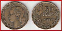 **** 50 FRANCS 1954 GUIRAUD BRONZE-ALUMINIUM **** EN ACHAT IMMEDIAT !!! - Francia