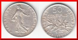 **** 50 CENTIMES 1900 SEMEUSE - ARGENT - SILVER **** EN ACHAT IMMEDIAT !!! - G. 50 Centimes