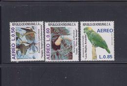 Honduras 1987 Birds Sc C758-C760 Mint Never Hinged Tucan Parrots - Parrots