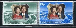 "Falkland Islands     ""Silver Wedding""     Set     SC#  223-24  MNH** - Falkland Islands"