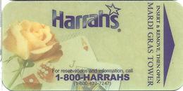 Harrah's Casino - Las Vegas, NV - Mardi Gras Tower Hotel Room Key Card - Hotel Keycards