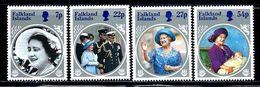 "Falkland Islands      ""Queen Mother 85 Birthday""    Set        SC# 420-23 MNH** - Falkland Islands"