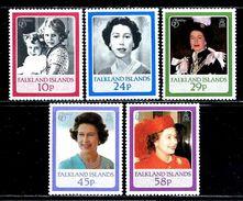 "Falkland Islands       ""Queen Elizabeth II ""     Set     SC# 441-45 MNH** - Royalties, Royals"