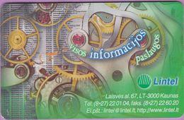 Télécarte Lituanie °° 69-Lintel - Visos Informacijos – 3081 - Lituanie