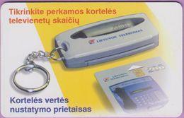 Télécarte Lituanie °° 65-Kortelés Vertés - Porte Clés - Lituanie