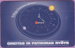 Télécarte Lituanie °° Greitas Ir Patikimas – 2000 - 2015 - Lituanie