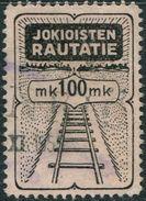 Finland 1954 100 Mk # 51a Jokioisten Jokioinen Railway Parcel Eisenbahn Paketmarke Colis Freight Fracht Rails Rail Track - Trains