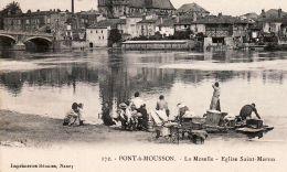 X54040 PONT-A-MOUSSON Lavandières Lavoir EGLISE Saint St MARTIN Meurthe Moselle LORRAINE ILLUSTREE 1910s - Imp Réunis - Pont A Mousson