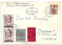 6938 Austria FDC History Hungary Revolution 1956 Overpr. Personality Nobel Prize Health Medicine Culture Costume Express - Vari