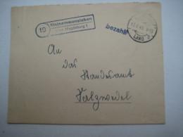 1945 , KLEINAMMENSLEBEN über Magdeburg , Klarer Stempel Auf Brief , Stempel : Bezahlt, Min. Verkürzt - Sowjetische Zone (SBZ)
