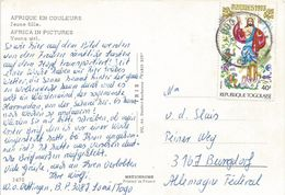 Togo 1974 Lome Easter Paques Christ Religion Viewcard Nude - Togo (1960-...)