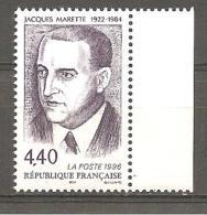Timbre FRANCE ** 1996 N° 3015 Y.T. Hommage à Jacques Marette  Bord De Feuille - Frankreich
