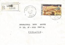 Togo 1977 Lome Mars Viking Space Mission Registered Cover - Togo (1960-...)