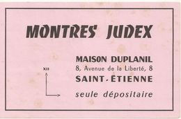 BUVARD  MONTRES JUDEX   Légèrement Taché Recto/verso - Textile & Clothing