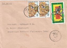 Togo 1983 Lome Market Basket Selling Athletics Steeplechase Cover - Togo (1960-...)