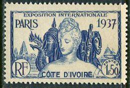 Cote D´ivoire 1937. Michel #158 MNH/Luxe. World Exhibition In 1937, Paris. (Ts48) - 1937 Exposition Internationale De Paris