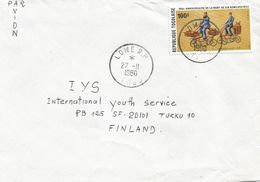 Togo 1980 Lome Post Delivery Bicycle Cycling Rowland Hill Cover - Togo (1960-...)
