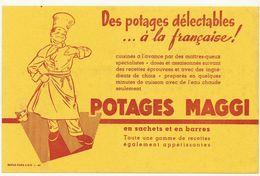 BUVARD  POTAGES MAGGI     Légèrement Taché Recto/verso - Potages & Sauces
