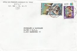 Togo 1979 Lome Space Shuttle Agriculture Beef Cow Raising Cover - Togo (1960-...)
