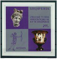 ALBANIA, ARTEMIS ANITCS, ARCHEOLOGY DISCOVERY 1974, NH BLOC - Albanie