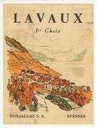 Rare // Lavaux 1er Choix, Fonjallaz S.A. Epesses, Vaud // Suisse - Etiquettes