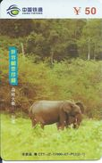 éléphant Elephant  Animal Télécarte Phonecard Karte (S.533) - Chine