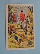 JACHT Tafereel ( Mannen / Hond ) / JOKER ( Rug Gedeeltelijk Gelost : Zie Foto´s Voor En Achter ) !! - Playing Cards (classic)