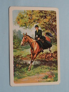 JACHT Tafereel ( Vrouw Te Paard ) / JOKER ( Rug Gedeeltelijk Gelost : Zie Foto´s Voor En Achter ) !! - Playing Cards (classic)