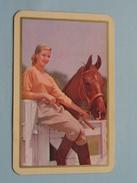 Vrouw Met Paard / JOKER ( Rug Gedeeltelijk Gelost : Zie Foto´s Voor En Achter ) !! - Playing Cards (classic)