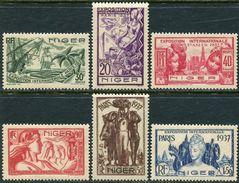 Niger 1937. Michel #77/82 MNH/Luxe. World Exhibition In 1937, Paris. (Ts48) - 1937 Exposition Internationale De Paris