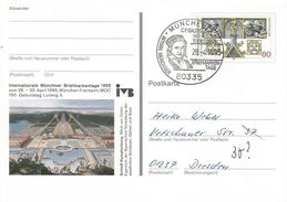 Germany 1995 Munchen Carl Friedrich Gauß Mathematician Astronom Physician Postcard - Onderzoekers