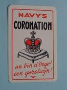 Navy's CORONATION Un Vin D'Orge - Een Gerstwijn / JOKER ( Zie Foto´s Voor En Achter ) !! - Barajas De Naipe