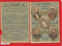 EN L ETAT JOURNAL LE PEUBLE CALENDRIER ALMANACH 1889 PORTAIT CARNOT BOULANGER VICTOR COMTE PARIS POLITIQUE LITTERAIRE - Calendriers