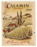 Rare // Calamin, Epesses 1947, P.Ponnaz & Fils Cully, Vaud // Suisse - Etiquettes