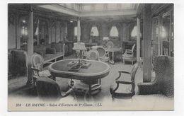 PAQUEBOT LE HAVRE - N° 578 - SALON D' ECRITURE DE PREMIERE CLASSE - CPA NON VOYAGEE - 75 - Paquebots