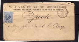 Van De Garde Tabak, Sigaren, Sterke Dranken En Pijpen Middelburg Kleinrond 1880 (BT-1) - Periode 1852-1890 (Willem III)