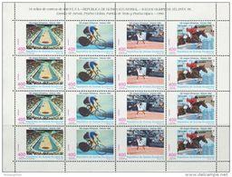 DB0571 Equatorial Guinea 1996 Olympic Tennis Horse Racing Bike Sheet 16v MNH - Equatorial Guinea
