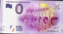 FRANCE EUROSOUVENIR NLP ZERO EURO CHENONCEAU 2016 UNC. - France