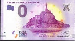 FRANCE EUROSOUVENIR NLP ZERO EURO MT ST MICHEL ABBAYE 2017  UNC. - France